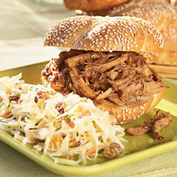 Asian Pulled Pork Slow Cooker Sandwich