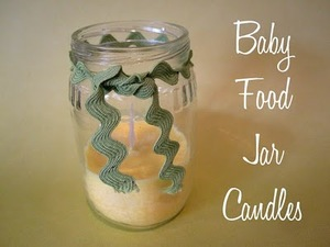Baby Food Jar Soy Candles