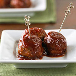 Cranberry-Sauced Slow Cooker Meatballs
