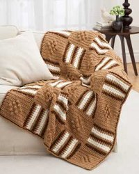 Diamonds and Stripes Afghan