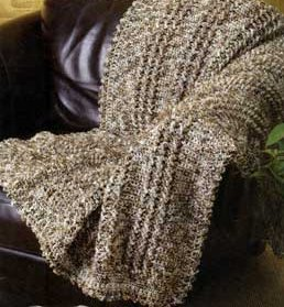 Cozy Crochet Cable Throw