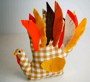 Handprint Turkey Softie