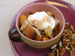 Winter Bread Pudding with Dried Pears