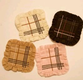 Burberry Inspired Ruffle Coasters