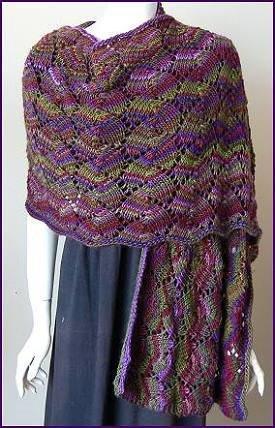 Mochi Plus Shell Lace Stole Allfreeknitting Com