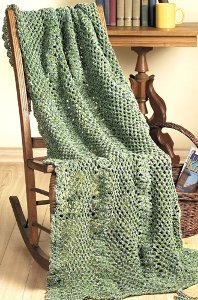 Green Textured Throw