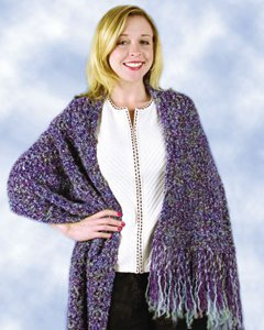 Free Download Crochet Patterns Baby Shawls : Beginner Purple Shawl AllFreeCrochet.com