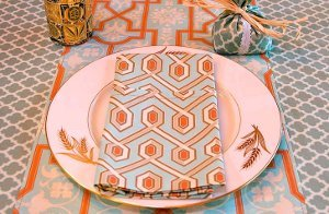 Thanksgiving Arts and Crafts Style Napkins