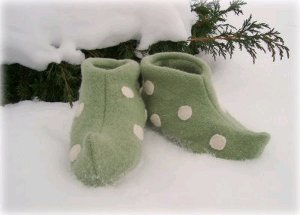 photo relating to Elf Shoe Pattern Printable titled Elf Slippers