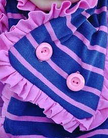 Button Ruffle Scarf