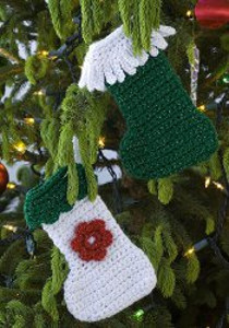 Tiny Stocking Ornaments Crocheted