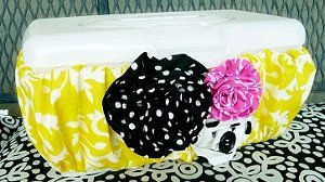 Flowered Wipes Container