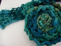 45 min Recycled Sari Ribbon Scarf