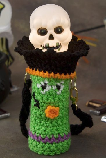 Crochet Frankenstein Flashlight Sleeve Favecrafts Com