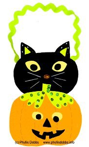 Pumpkin and Cat Halloween Wall Hanging