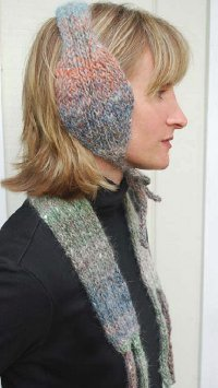 Cozy Earmuff and Scarf Set for a Knitting Board