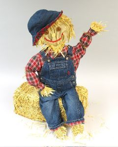 Friendly Straw Scarecrow