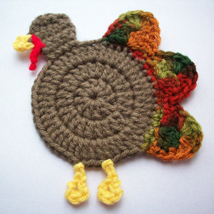 Gobble Coaster Free Crochet Pattern : Gobble Coaster AllFreeCrochet.com