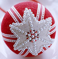 Felt-Covered Christmas Ornaments