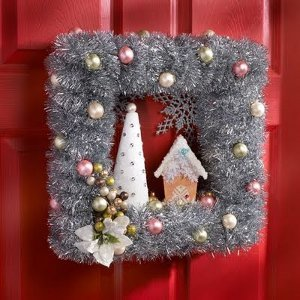 Vintage style holiday wreath - Awesome christmas wreath with homemade style ...