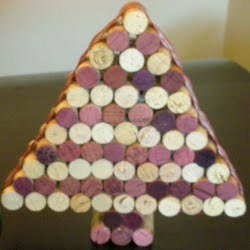 Wine Cork Mini Christmas Tree