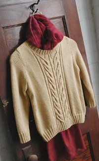 Wishbone and Cream Sweater