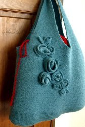 Sweater Into Felted Handmade Bag Tutorial