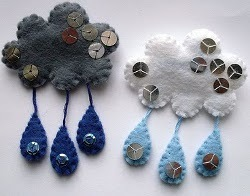 Felt Raincloud Brooch