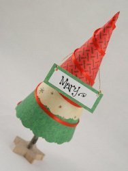 Paper Christmas Tree Placecards