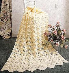 Stunning Popcorn Ripple Crochet Afghan