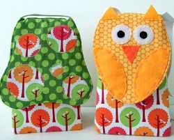 Mushroom or Owl Lunch Sack