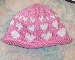 I Love You Hearts Knit Hat