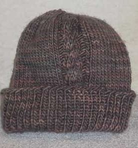 Two Cable Bulky Hat Knitting Pattern