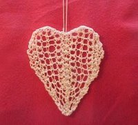 Lace Heart Knitting Pattern