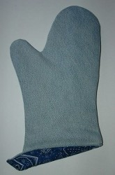 Recycled Demin Oven Mitt