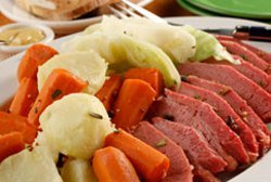 Slow Cooker Corned Beef And Cabbage For Four