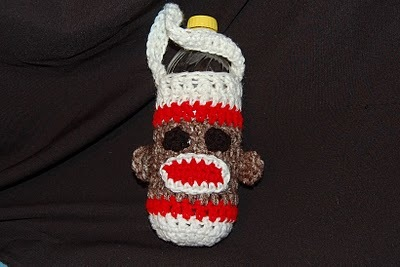 Sock Monkey Water Bottle