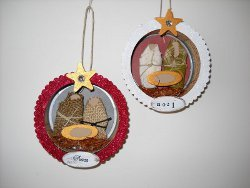 Tuna Can Nativity Ornaments