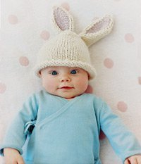 Knitted Bunny Hat  Baby  Toddler