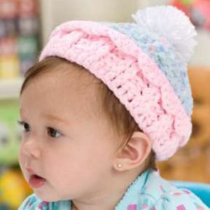Super-Cute Crocheted Cupcake Hat