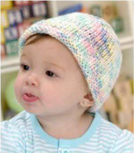 Easy to Knit Sweet Baby Hat