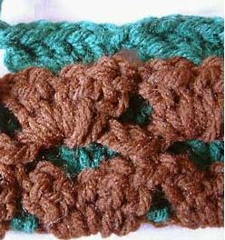 Two Color Reversible Shells Afghan