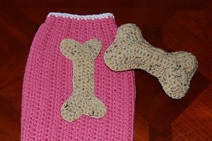 Dog Bone Applique And Toy