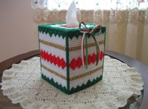 Christmas Shells and Bows Tissue Cover Box