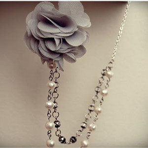 Beaded Rose Necklace