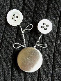 Button and Wire Brooch