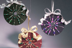 CD Ornaments with Beads