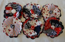 Patriotic Posy Pins
