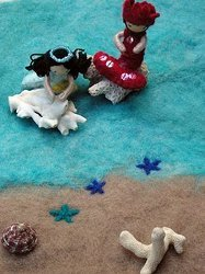 Wet Felted Ocean Playmat