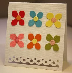 Friend Card With Flowers